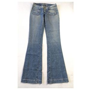 ROBIN'S JEAN Distressed Flare Jeans 26
